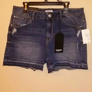 Kensie Jeans Distressed Shorts